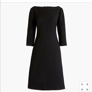 New J. Crew Textured Black Dress